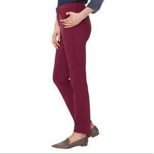 NYDJ Burgundy Slim Style size 12 Pants Jeans
